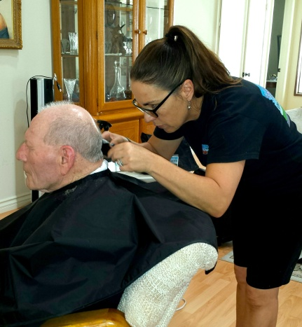 Hospice Elderly Pedicure and Haircut